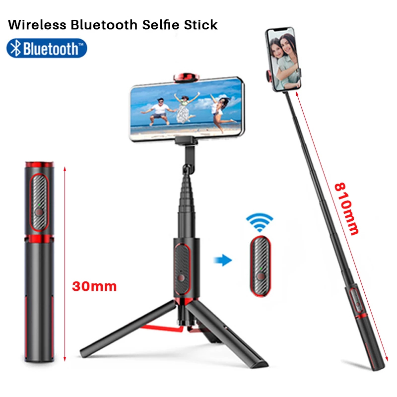 Bzfuture Foldable Tripod Expandable Monopod 3 in 1 Wireless Bluetooth Selfie Stick  with Remote Control for iPhone Android