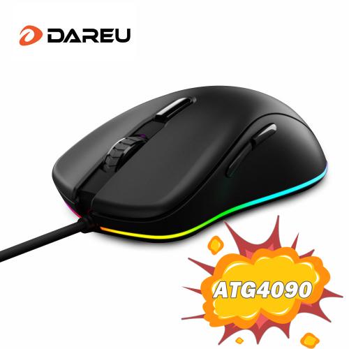 Official DAREU EM908 Wired RGB Gaming Mouse ATG4090 Sensor