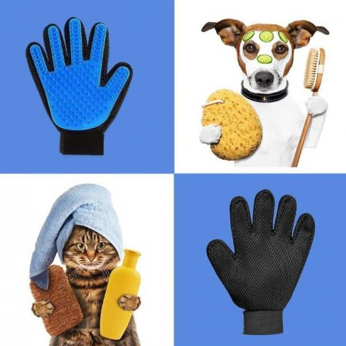 Official Hirundo Pet Hair Remover Glove (Great for Cats/Dogs)
