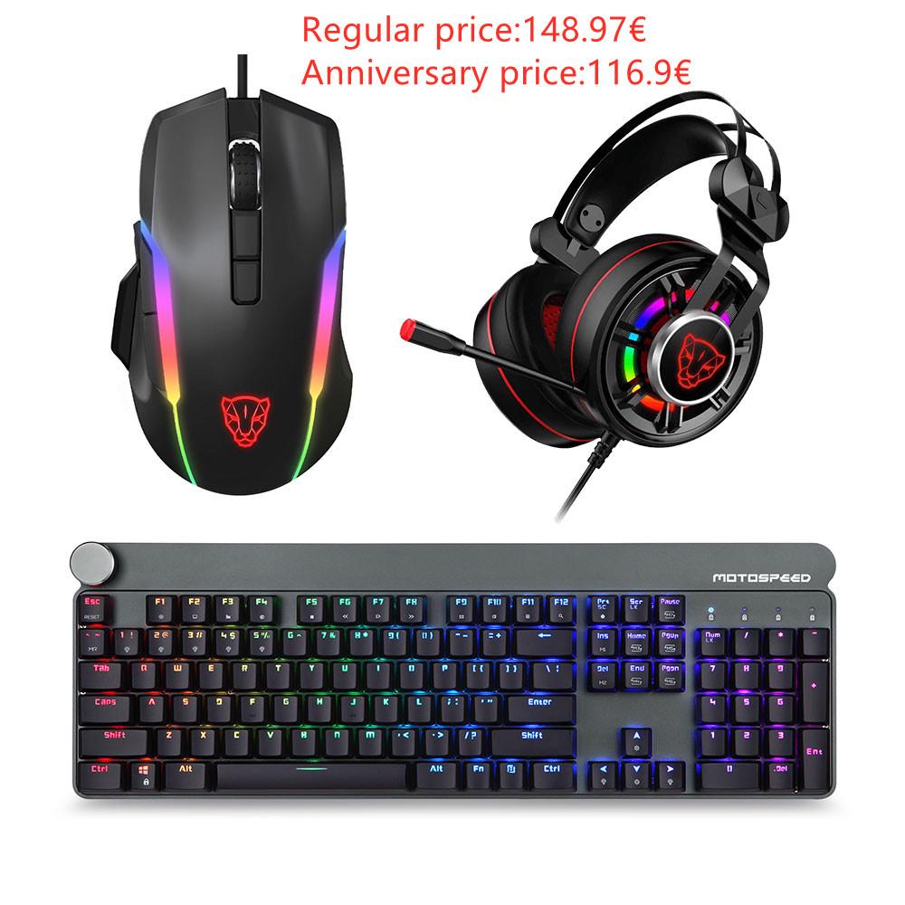 Motospeed Esports 3-piece pack Mice Headset Keyboard(GK81 V90 G919)