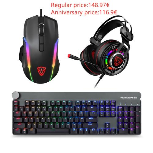 Official Motospeed Esports 3-piece pack Mice Headset Keyboard(GK81 V90 G919)