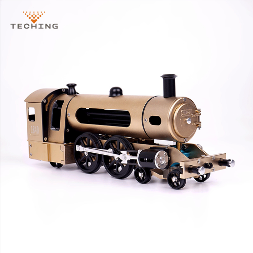 Official Teching DM21 Engine Steam Train Model With Pathway Full Aluminum Alloy Model Gift Collection STEM Toys