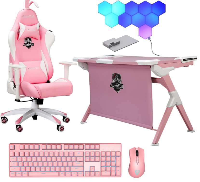 Pink Mood Gaming Room Setup