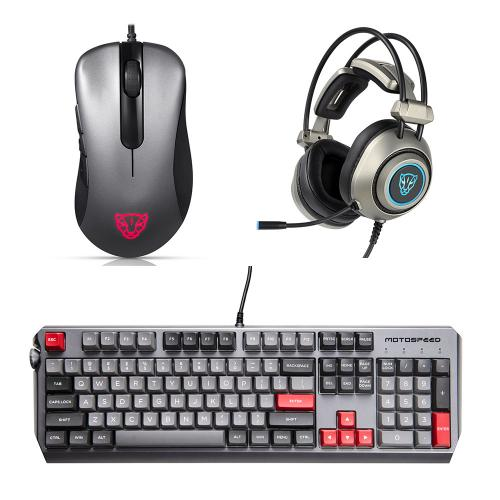 Motospeed Esports 3-piece pack Mice Headset Keyboard(V100 H19 CK80)