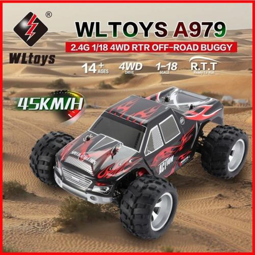Wltoys A979 A979-A A979-B 1/18 2.4G 4WD Off-Road Truck RC Car