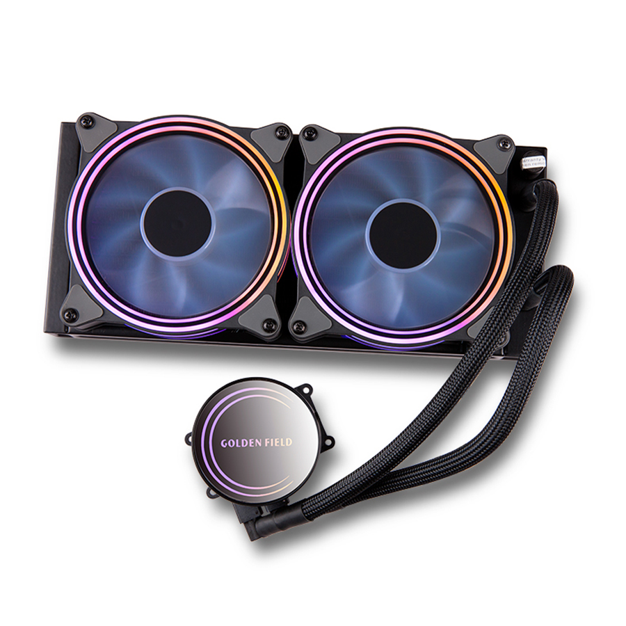 GOLDEN FIELD ICE Series Advanced RGB Lighting Liquid CPU Cooler  for Intel AMD Socket CPU Cooling