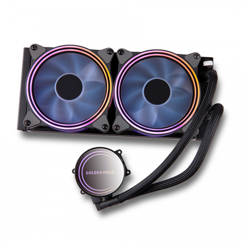 Official GOLDEN FIELD ICE Series Advanced RGB Lighting Liquid CPU Cooler  for Intel AMD Socket CPU Cooling