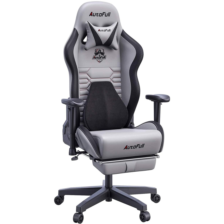 AutoFull Gaming Chair AF083GPJA,Grey