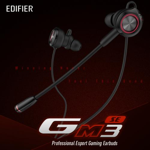 EDIFIER GM3SE gaming headset Dual mics Dual moving coils Precise Acoustic Positioning Arc shaped earwings earphone