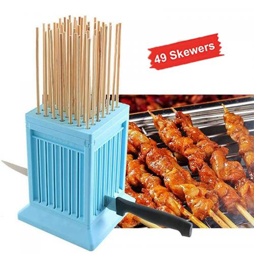 Official Bzfuture 49 Holes BBQ Meat Skewer