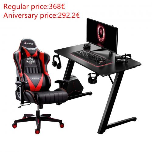 Autofull AF070+AFDJZ004BL Gaming Chair and Desk Combo