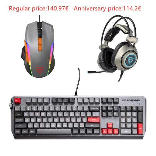 Official Motospeed Esports 3-piece pack Mice Headset Keyboard(CK80 V90 H19)