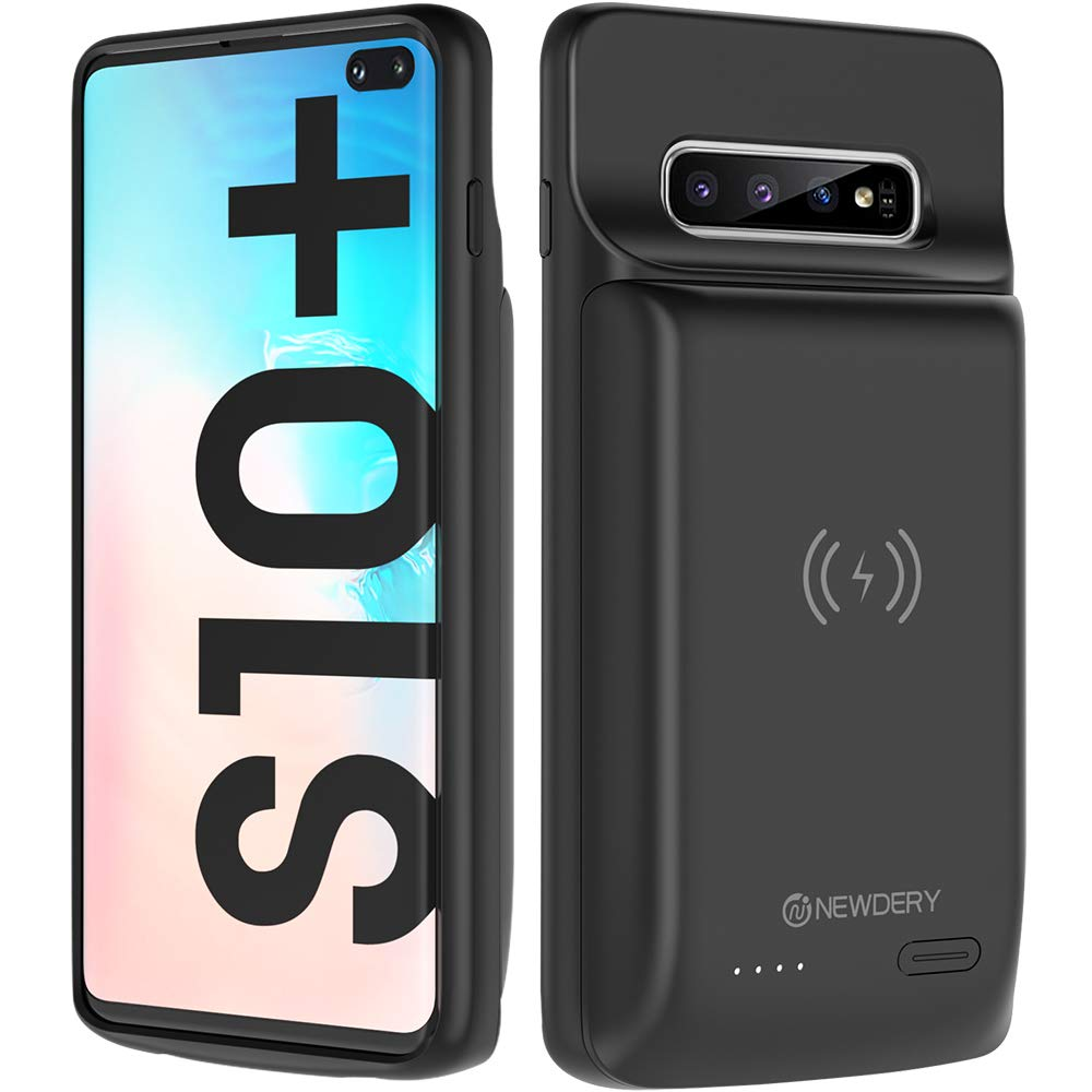 NEWDERY Wireless Charging Battery Case for Samsung Galaxy S10+