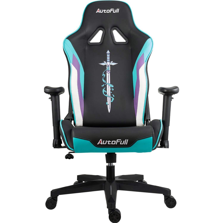 AutoFull Racing Gaming Chair AF076JPU,Cyan
