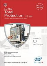 Official McAfee Total Protection 1 PC 1 Year Global
