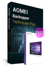 Official AOMEI Backupper Technician Plus + Lifetime Free Upgrades Key Global(Windows 10 Pro OEM free)