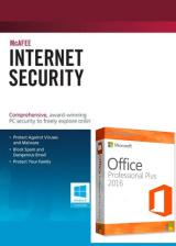 Official McAfee Antivirus 1 PC 1 YEAR Global+office 2016 pro plus