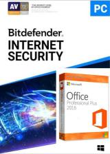 Official Bitdefender Internet Security 2020 1 PC 1 Year Key Global+office 2016 pro plus