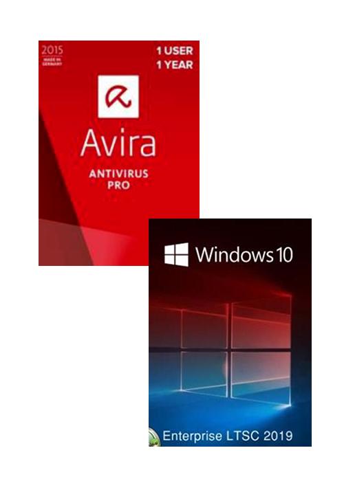 Avira Internet Security Suite 1 PC 1 YEAR + Windows 10 Enterprise LTSC 2019 CD Key Pack