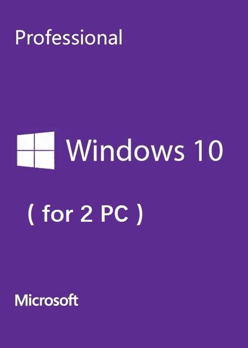Microsoft Windows 10 Pro OEM Scan CD Key Global(2 PC)