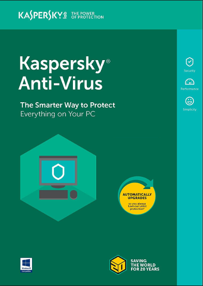 Kaspersky Antivirus 2020 3 PC 1 Year Key North America