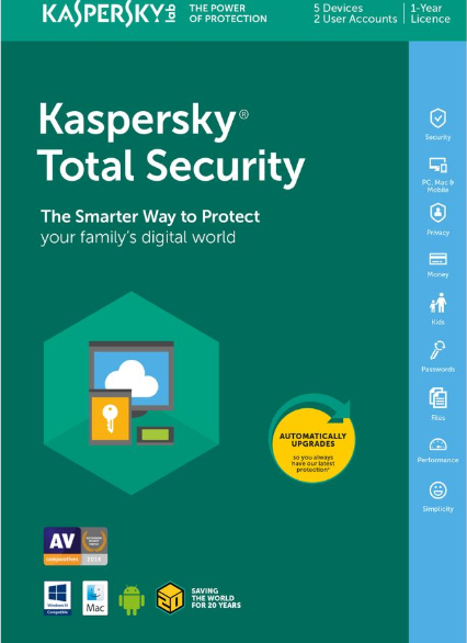 Kaspersky Total Security 2020 5 PC 1 Year Key North America