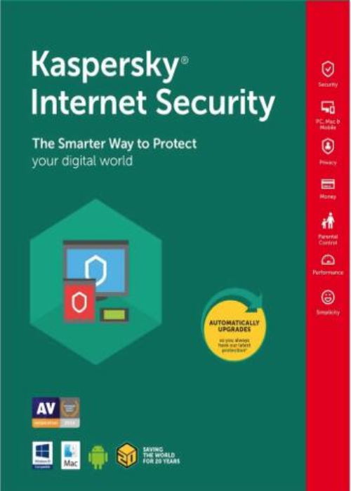 Kaspersky Internet Security 2020 3 PC 18 Months Key North America