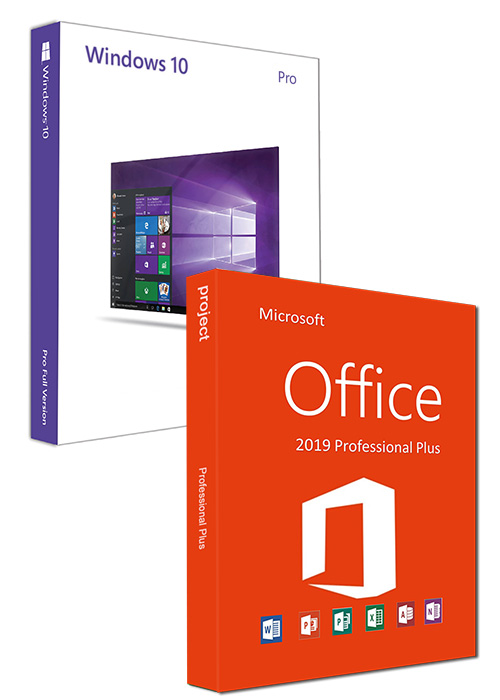 Windows10 PRO OEM + Office2019 Professional Plus CD Keys Pack
