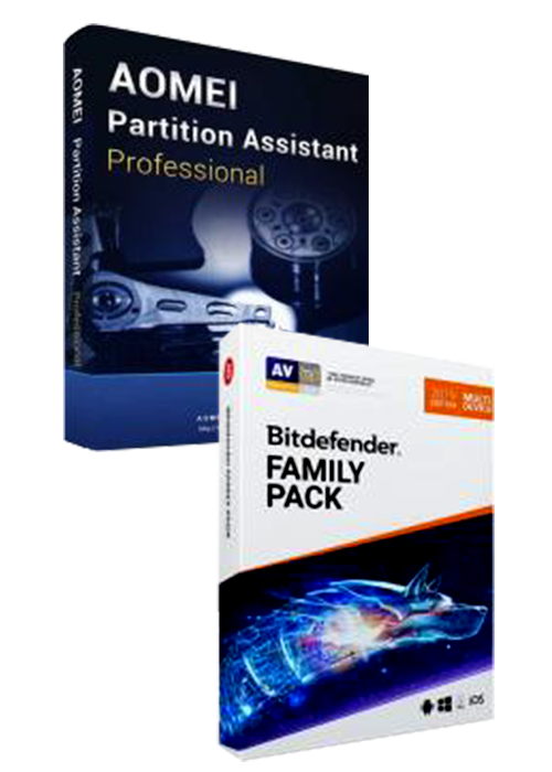 Bitdefender Family Pack + AOMEI Partition Assistant Professional Keys Pack