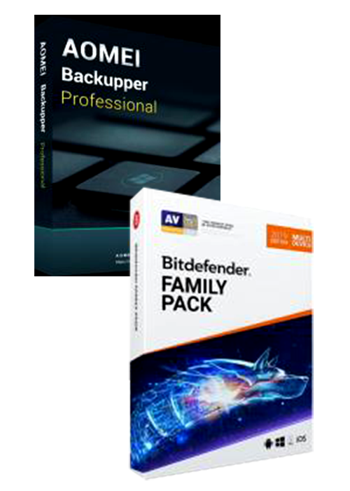Bitdefender Family Pack + AOMEI Backupper Professional Global Keys Pack