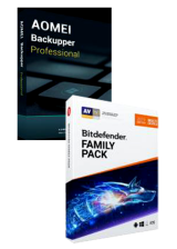 Official Bitdefender Family Pack + AOMEI Backupper Professional Global Keys Pack