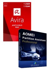 Official Avira Antivirus Pro + AOMEI Partition Assistant Professional Global Keys Pack