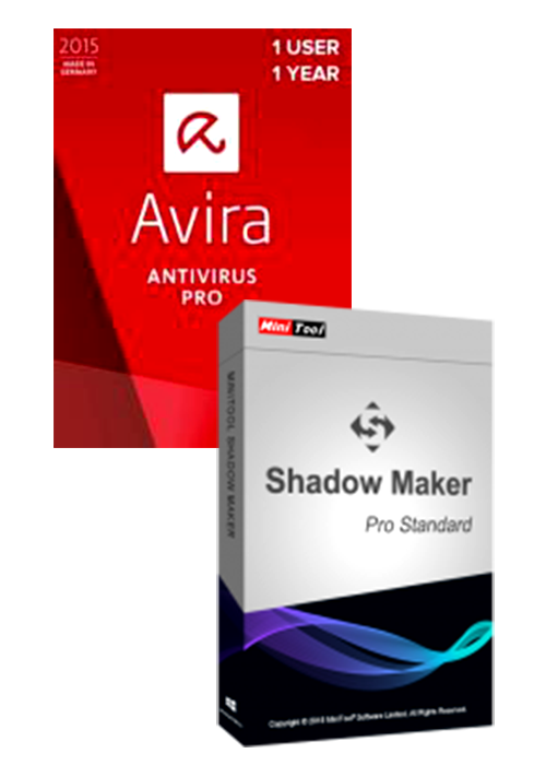 Avira Antivirus Pro + MiniTool ShadowMaker Pro Global Keys Pack