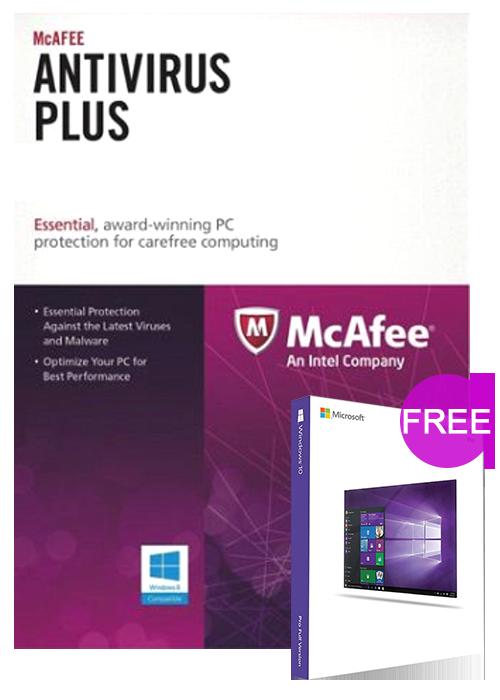 McAfee Antivirus 1 PC 1 YEAR Global(windows 10 pro oem free)