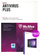 Official McAfee Antivirus 1 PC 1 YEAR Global(windows 10 pro oem free)