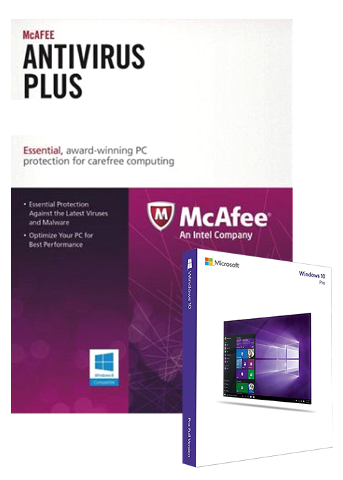 McAfee Antivirus 3 PC 1 YEAR Global(Window 10 Pro OEM free)