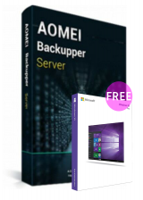 Official AOMEI Backupper Server Latest Version + Free Lifetime Upgrades Key Global(Windows 10 Pro OEM free)