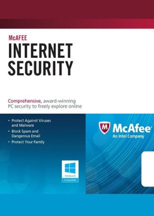 McAfee Internet Security 3 PC 1 YEAR Global