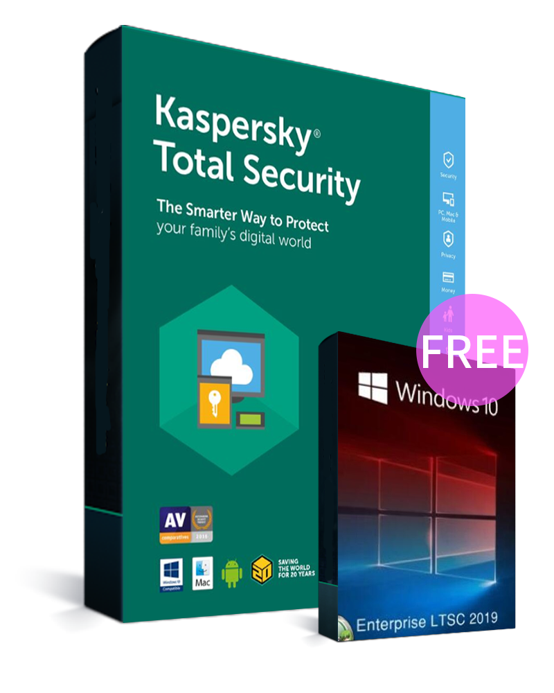 Kaspersky Total Security 1 PC 1 Year Key Global(Windows 10 Enterprise LTSC 2019 CD Key free)