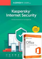 Official Kaspersky Internet Security 1 PC 1 Year Global Key+office 2016 pro plus
