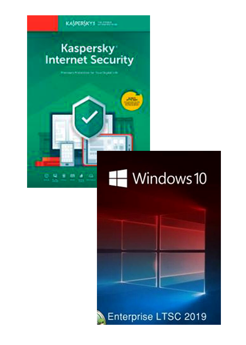 Kaspersky Internet Security 1 PC 1 Year + Windows 10 Enterprise LTSC 2019 CD Key Pack