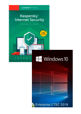 Official Kaspersky Internet Security 1 PC 1 Year + Windows 10 Enterprise LTSC 2019 CD Key Pack