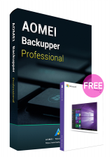 Official AOMEI Backupper Professional 5.6 Edition Key Global(Windows 10 Pro OEM free)