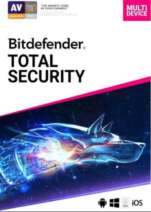 Bitdefender Total Security 5 PC 1 Year Key Global