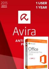 Official Avira Internet Security Suite 1 PC 1 YEAR Global+office 2016 pro plus