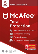 bzfuture.com, Mcafee Total Protection 5 Devices 1 Year Global