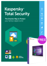bzfuture.com, Kaspersky Total Security 1 PC 1 Year Key Global(windows 10 pro oem free)