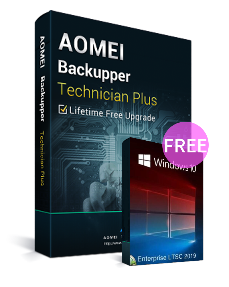 AOMEI Backupper Technician Plus + Lifetime Free Upgrades Key Global(Windows 10 Enterprise LTSC 2019 CD Key free)