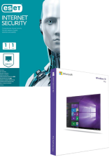 Official ESET Internet Security 1 Device 1 Year + Windows 10 Pro OEM CD Key Pack