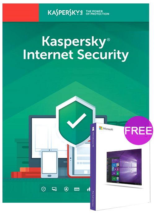 Kaspersky Internet Security 1 PC 1 Year Global Key(windows 10 pro oem free)